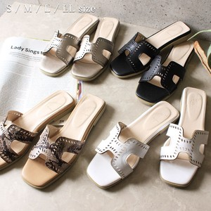 Cutting Belt Heel Sandal Shoe Shoes Motif Sandal Flat