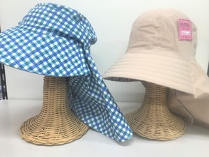Pattern S/S Attached Reversible Hat Plain Checkered