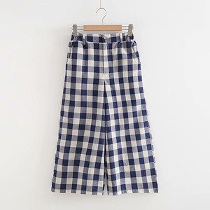 Ladies Checkered 9/10Length Pants