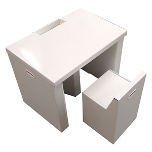 Stand Simple Cardboard Box Work Desk Set