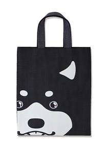 倉敷デニム デカ顔アニマルデニムトートバッグ 【日本製】日本古来の縁起もの柄・家紋柄など