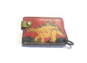 Colorful Commuter Pass Holder 1 Pc Storage Both Sides Handmade Hand Maid Hand-Painted