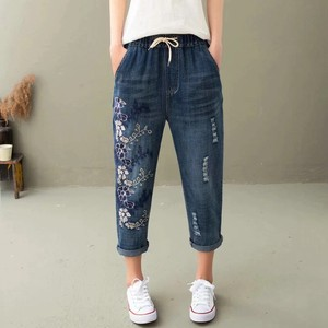 Lip Denim Cropped Pants