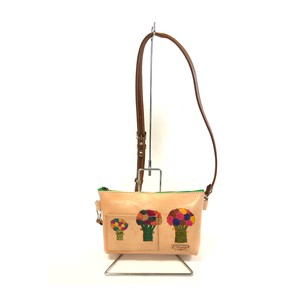 Leather Shoulder Bag Leather Sacosh Handmade Hand Maid Hand-Painted