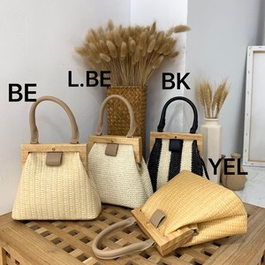 [ 2020NewItem ] Square Natural Material Natural Wood Shoulder Bag