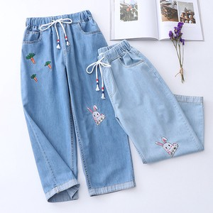 Ladies Denim Cropped Pants