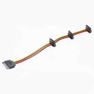 HDD 電源ケーブル シリアルATAコネクタ sata ×3 電源分岐ケーブル 変換 28cm