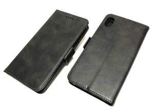 iPhoneXR ケース ポケット付き 手帳型 ダークグレー