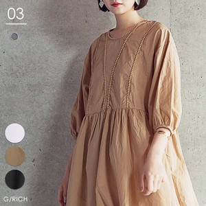 One-piece Dress Volume Sleeve One-piece Dress A line Prenatal Half Length