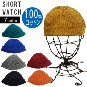 Hats & Cap Knitted Hat Knitted Cap Watch Cap Short Watch Cap Cotton Men's Ladies Key