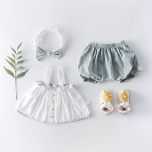 [ 2020NewItem ] Baby Sleeveless Suspender Top Bloomers Hair Band Band Suits Baby