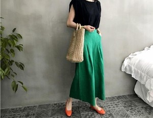 Ladies Casual Hand Maid Style High Quality Natural Cotton Linen wide pants