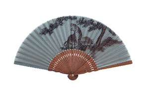 Japanese Craft Folding Fan Silk Japanese Pattern