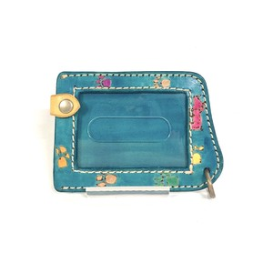 Commuter Pass Holder 2 Pcs Storage Handmade Hand Maid Hand-Painted