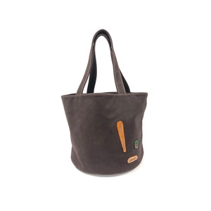 Leather Handbag Stripe Bucket Laundry Bag Handmade Hand Maid