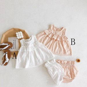 Baby Sleeveless Top Pants 2 Pcs Set Kids Baby