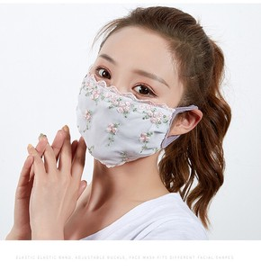 S/S Fashion Thin Lace Sunscreen Mask Ladies Mask Dustproof Mask