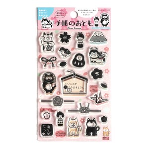 Clear Stamp Decorate Sakura New Year Decoration Notebook Stamp Letter Craft
