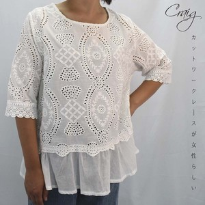 Cut Work Lace Tunic Shirt Blouse Design Tunic Three-Quarter Length
