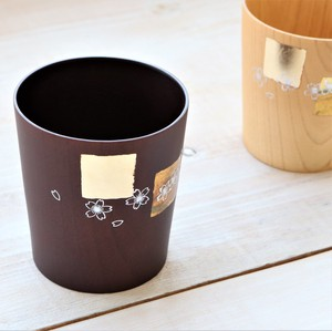 Vivid Cup and Makie Cup Gold Dark Brown