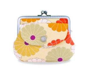 Japanese Craft Crape Parent And Child Coin Purse