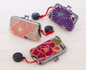 Japanese Craft Made in Japan Coin Purse Seal Case Retro Flower