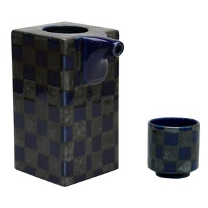 Set 1Pc Japanese Pattern Japanese Sake Cup Checkered