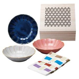 Tenugui (Japanese Hand Towels) Bowl Wood Boxed