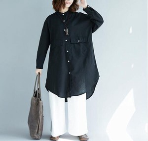 Ladies Plus Suits Cotton Linen Shirt Dress