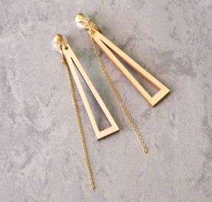 White Birch Accessory Earring Triangle Little