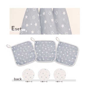 Star Loop Attached Towel 3 Pcs Loop Attached Towel Handkerchief Towel Wash Towel