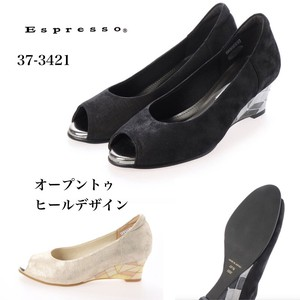 Design Heel Open Toe Pumps