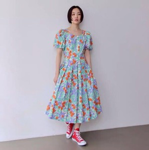 [ 2020NewItem ] Floral Pattern Long One-piece Dress