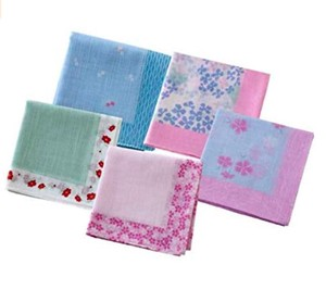 Japanese Craft Weaving Handkerchief Fortune 5 Pcs Set Hydrangea Goldfish Nadeshiko
