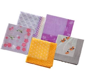 Japanese Craft Weaving Handkerchief A Wish Accomplishment 5 Pcs Set Cloisonne Hemp Making