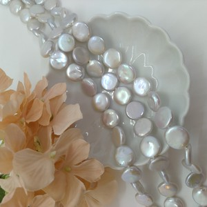 Freshwater Pearl Coin 2mm White