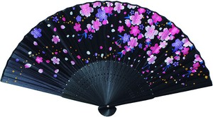 Coloring Japanese Folding Fan - Weeping Cherry