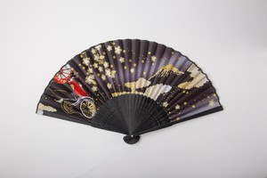 "Coloring Japanese Folding Fan - Rickshaw and ""Maiko"""