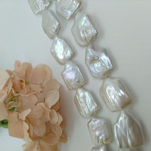 Freshwater Pearl Flat Single White