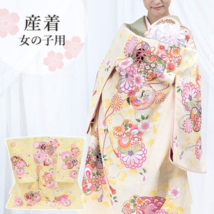 Girl 3 Colors Hinzime Yellow Yellow Girl Kimono Kids Baby