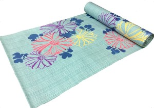 Japanese yukata fabric(chrysanthemums) blue