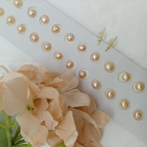 Freshwater Pearl 6 Pcs Set Orange Button