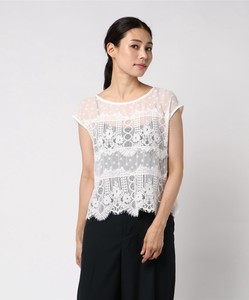 Lace Scala Border Switching Top