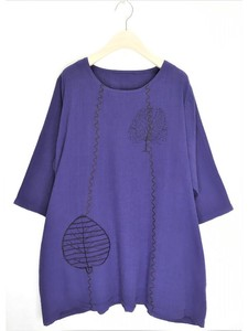 Dyeing Embroidery Tunic Blouse