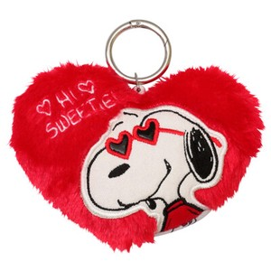 Snoopy Heart Glass Fluffy Commuter Pass Holder SNOOPY