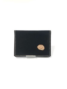 Leather Card Case Card Case Handmade Hand Maid Colorful Patch