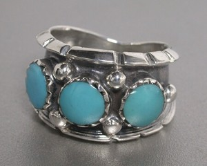 Silver 925 Natural Turquoise Ring Turquoise Silver Ring Wreath Tone