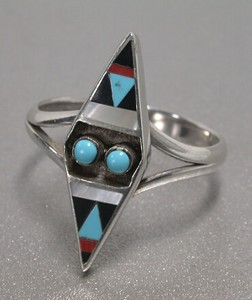 Silver 925 Natural Turquoise Ring Turquoise Silver Ring Lozenge