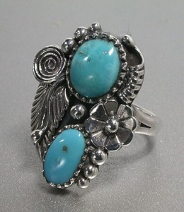 Silver 925 Natural Turquoise Ring Turquoise Silver Ring