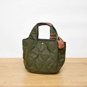A/W Polyester Kilting Leather Tote